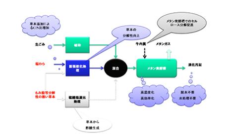 メタン発酵の実施フロー