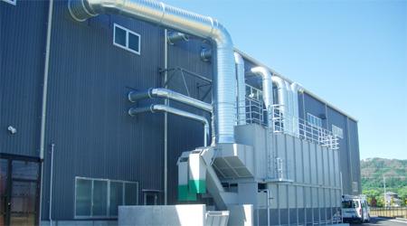 業務従事者の労働安全衛生や近隣住民の健康のための集塵装置
