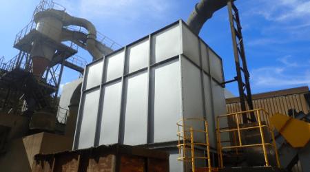 寒冷地に適した水を使わない乾式集塵装置